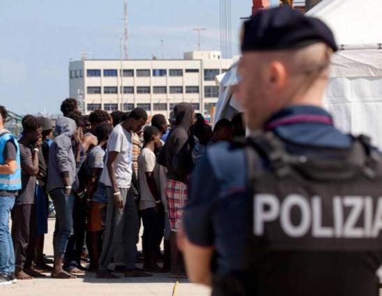 Italy's Salvini refuses to let migrants on coastguard ship disembark
