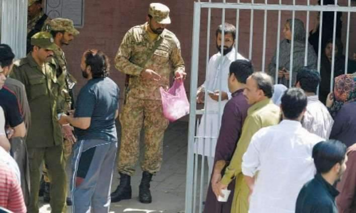 Polling process begins among tight security arrangements