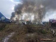 85 injured after Mexican plane crashes at airport in hail storm