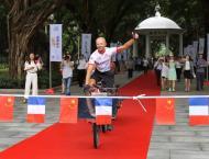 Belgian wins inaugural France to China solar bike race