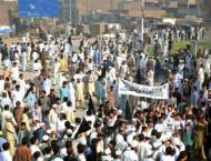People suffer as opposition parties block roads in KP