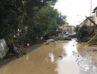 Torrential rain caused flooding at Grosseto