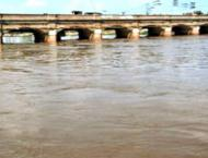 River Chenab runs in medium, low flood