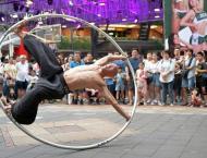 In the hoop: Taiwan's spinning street artist