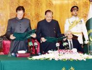 Aown Chaudhry, Sh Rasheed missing in Imran Khan's oath-taking c ..