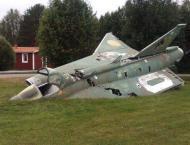 Swedish fighter jet crashes after bird collision, pilot survives ..