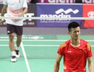 Chinese shuttlers snatch two golds in doubles at Asiad