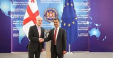 سفير الدولة غير المقيم يلتقي وزير خارجية جورجيا