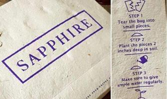 Clothing brand Sapphire introduces biodegradable, seed infused ba ..