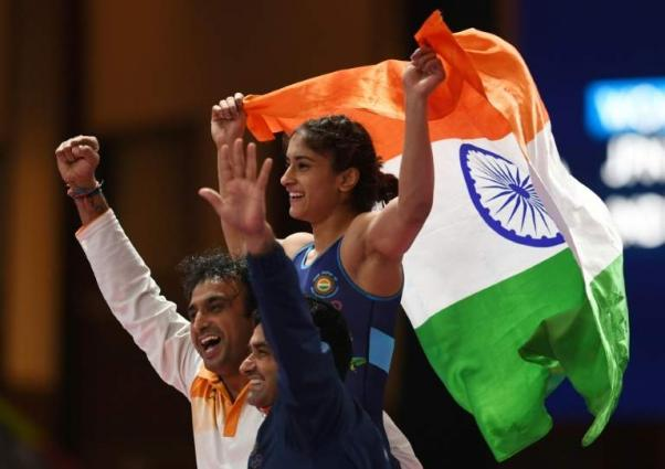Life Imitates Art As Indian Wins Womens Wrestling Gold