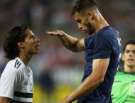 Adams off the mark as USA sink 10-man Mexico