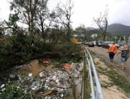 Massive clean-up in Hong Kong after typhoon chaos
