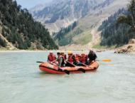 Women entrepreneurs enjoy rafting at Kunhar River