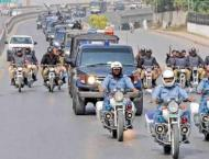 Police hold flag march to show strength in Rawalpindi