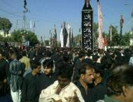 9th Muharram main procession concludes peacefully in Karachi