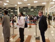 People surround Shah Mehmood Qureshi at airport, take selfies as  ..