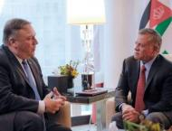 Jordanian King, US Secretary of State discuss developments in pea ..
