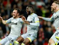 Manchester United knocked out of the League Cup by Derby