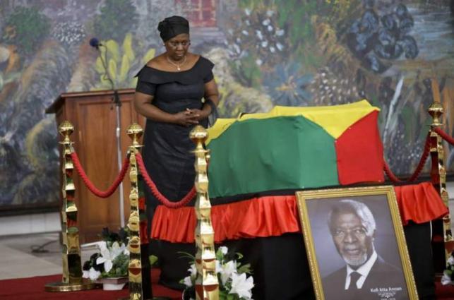 Ghana's public says farewell to Kofi Annan