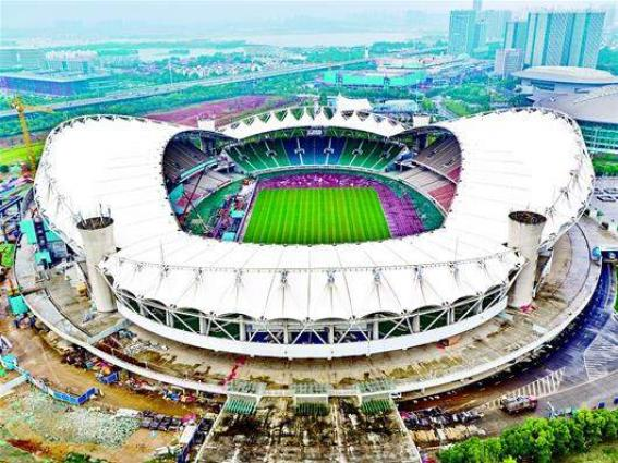 First competition venue completed for military world games in Wuhan