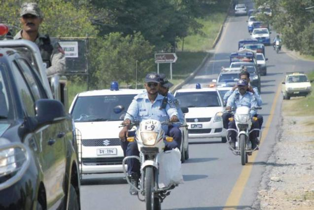 Islamabad Police conduct flag march