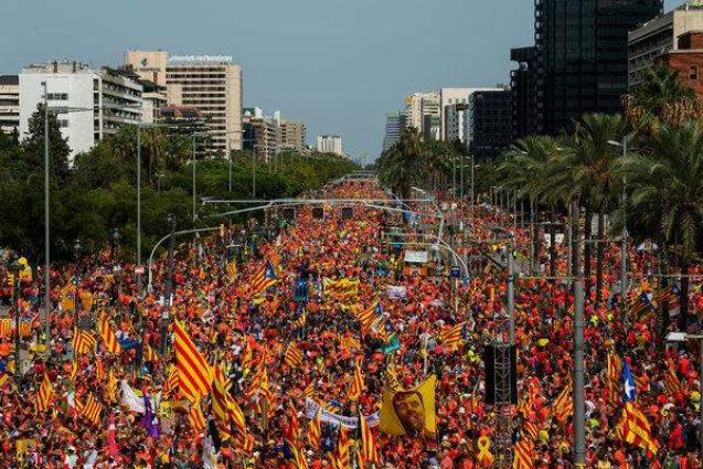 One Million Catalans Call for Republic's Creation at Barcelona Rally