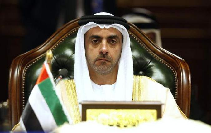 Saif bin Zayed receives UN's INCB delegation