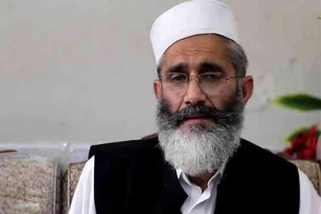 Sirajul Haq supported govt decision for building dams in country