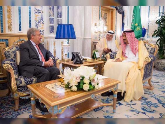 Saudi King receives UN Secretary-General