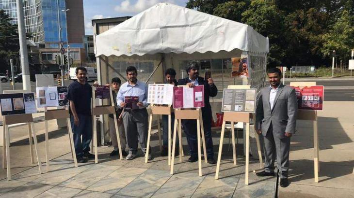 Al-Ghufran organises exhibition to expose Qatari regime's human rights violations