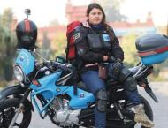 Pakistani biker Gulafshan Tariq reaches Multan as part of her Pun ..
