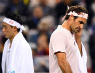 Federer fires to join Djokovic in Shanghai semis