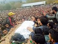 Thousands offer prayers in absentia for Manan in IOK