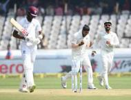 West Indies dismissed for 311 in second India Test