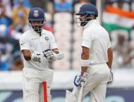 India 173-4 at tea in second West Indies Test