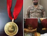Martyred Major Ishaq's wife completes army training