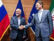 RPT- Russia's Novak Holds Meeting with Iran's Zanganeh