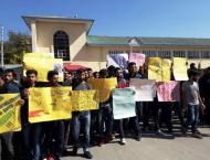 Students stage protest against Kulgam killings
