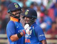Cricket: India v West Indies second ODI scoreboard