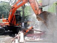 Dozens of illegal structures demolished in Multan