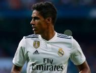 Injured Varane out for up to a month - report