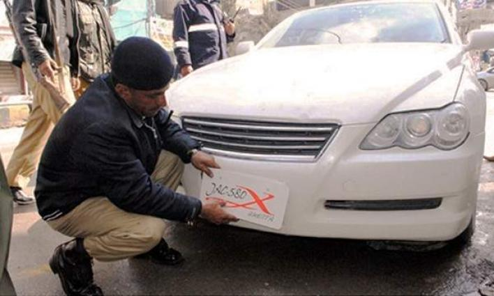 Crackdown On Fancy, Fake And Illegal Number Plates In Karachi - UrduPoint