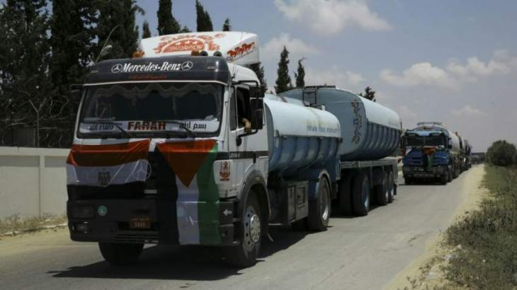 Fuel Deliveries to Gaza Strip to Be Resumed If Unrest at Border Stops - Defense Minister