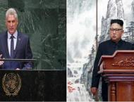 N. Korean leader meets Cuban president in Pyongyang