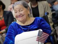 Great-grandmother, 106, gets US citizenship on Election Day