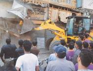 Anti-encroachments campaign continues in Saddar Karachi