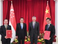China, Singapore sign cooperation document on upgrading FTA