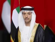 Hazza, Mansour bin Zayed visit ADIPEC 2018