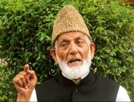 Syed Ali Gilani thanks people for condolence