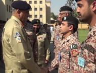 COAS visits HQ Pakistan Rangers Sindh